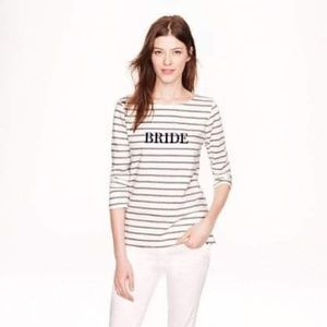 J. Crew Bride Sailor Tee in Heather Graphite Small